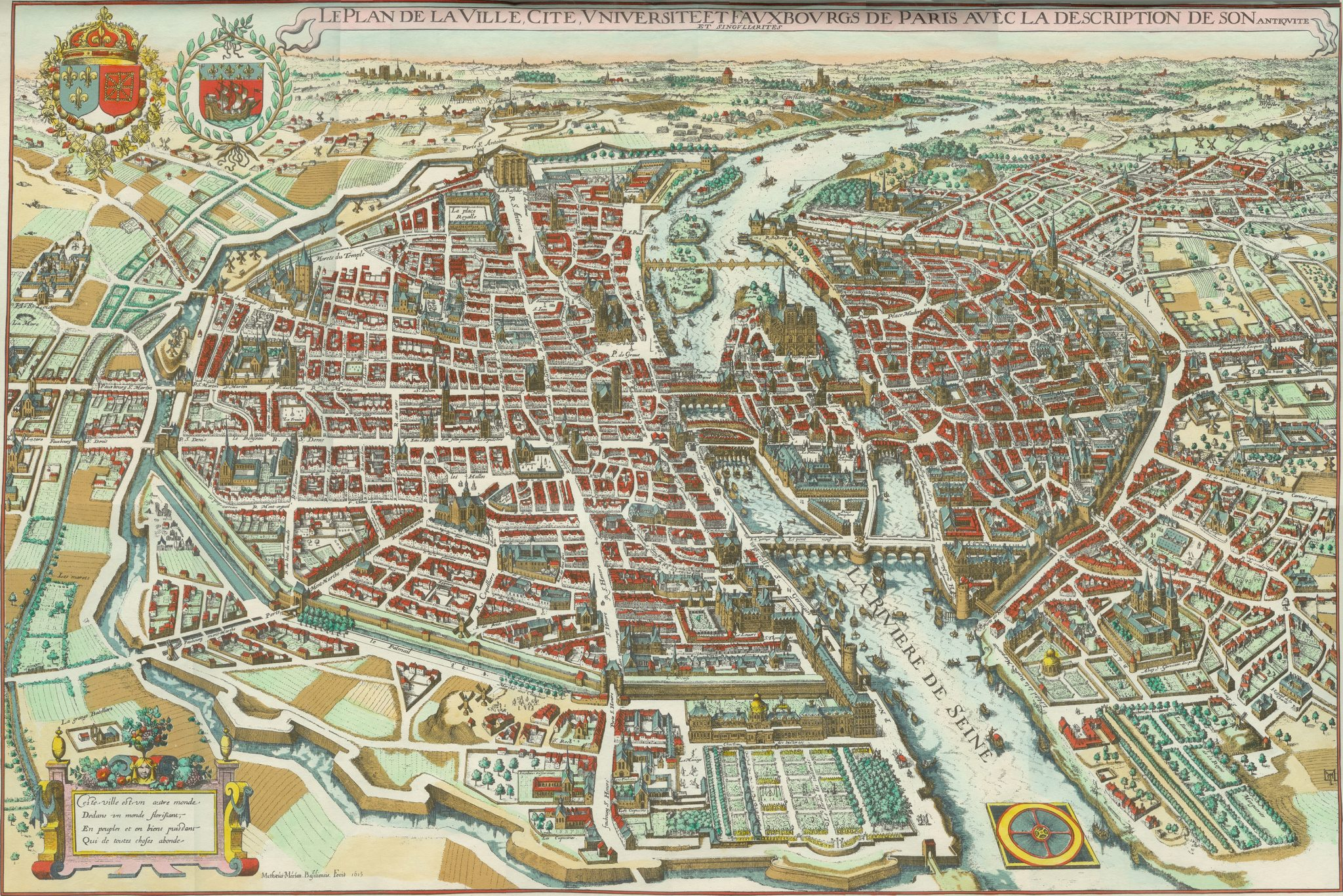 paris 1615 plan de mrain